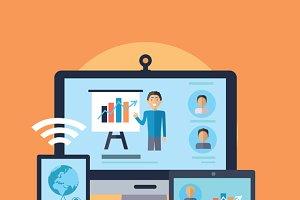 Business Online Seminar Concept