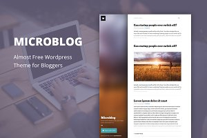 Microblog - Cheap WordPress Theme