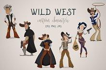 Wild west cartoon characters