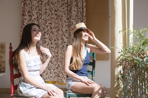 Girls friends on holidays