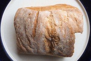 Bread in dish