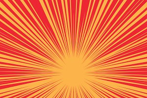 Bright burst background retro