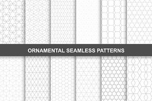 Ornamental seamless patterns.