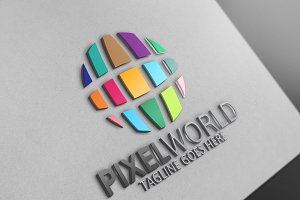 Pixel World Logo
