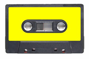 Tape cassette yellow label