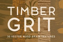 TimberGrit — 30 Vector Wood Textures