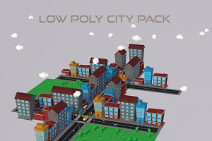 3D Environment: 3DTreatment - Low Poly City Pack