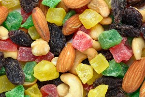 Toasted nuts and candied fruits