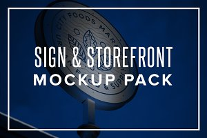 Sign & Storefront Mockup Pack