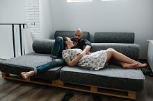 couple on the sofa