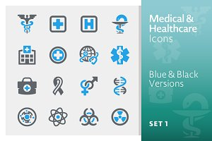 Medical & Health Care Icons 1 | Blue