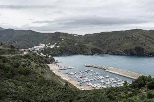 Mirador al puerto de Portbou