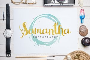 Watercolor & Gold Foil Logo
