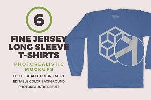 Fine Jersey Long Sleeve Mockups