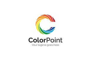 Color Point Letter C Logo