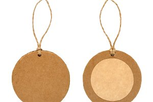 Round paper tag