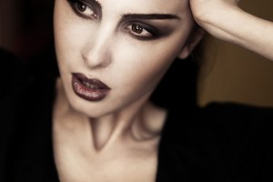 woman with gothic make-up