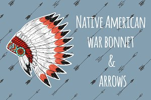 War bonnet & arrows