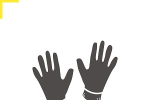Gloves icon. Vector