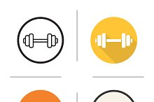 Gym dumbbell icons. Vector