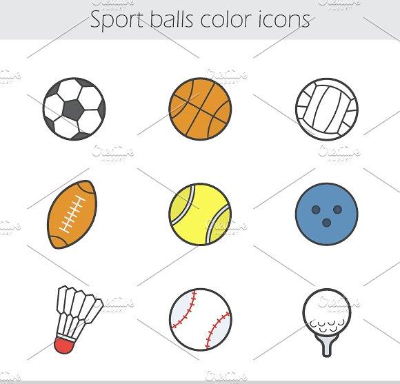 Sport balls icons. Vector