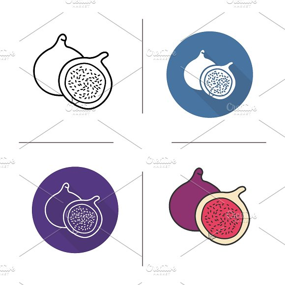 Fig icons. Vector