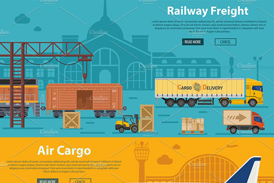 Freight Transport in Illustrations - product preview 1