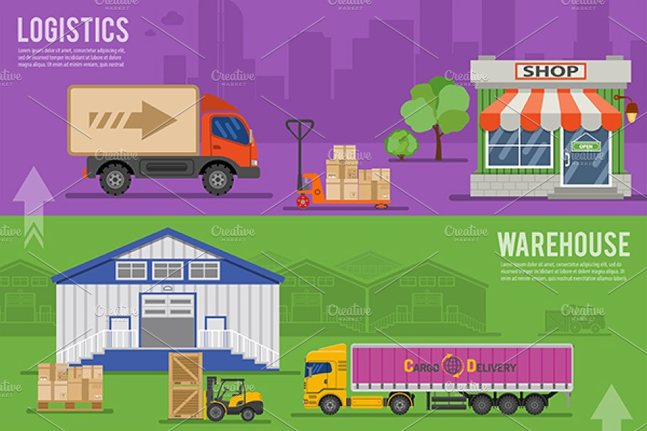 Freight Transport in Illustrations - product preview 2