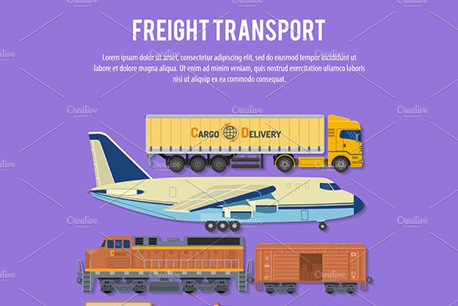 Freight Transport in Illustrations - product preview 3
