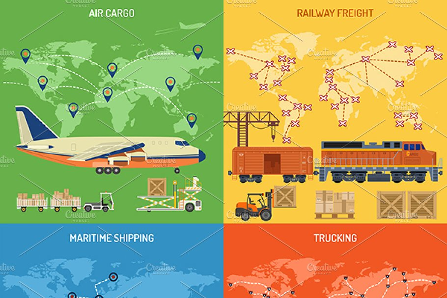 Freight Transport in Illustrations - product preview 4