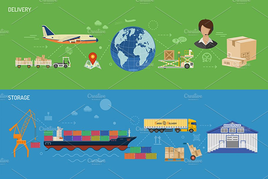 Freight Transport in Illustrations - product preview 5