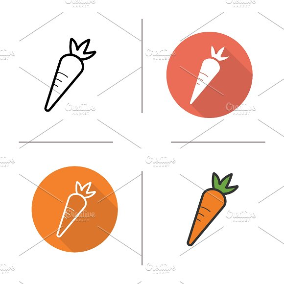 Carrot icons. Vector