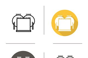 Oil tank icons. Vector