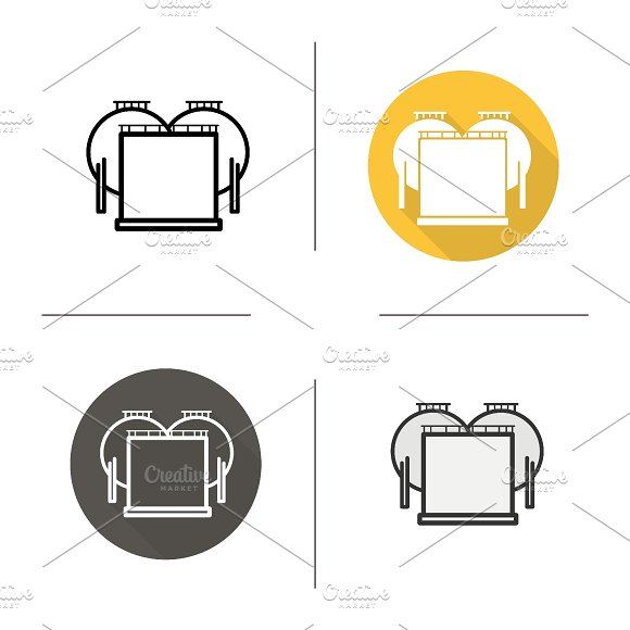 Oil tank icons. Vector - Icons