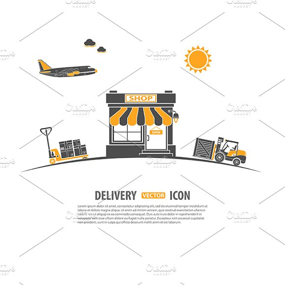 Freight Transport Infographics in Illustrations - product preview 1