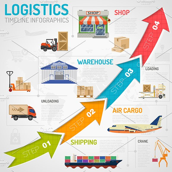 Freight Transport Infographics in Illustrations - product preview 4