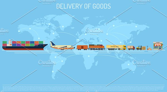 Freight Transport Infographics in Illustrations - product preview 5