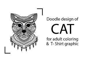 Cat doodle design