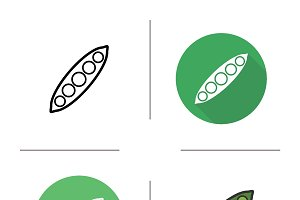 Peapod icon. Vector