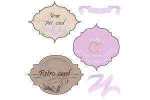 Labels nards tapes design elements