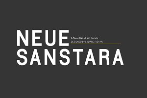 Neuesanstara Font Family 50% OFF