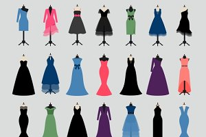 Evening Party Dresses Icons