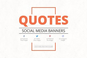 30% OFF Quotes Social Media Banners