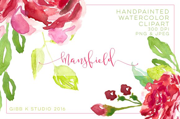 Mansfield Watercolor Clipart