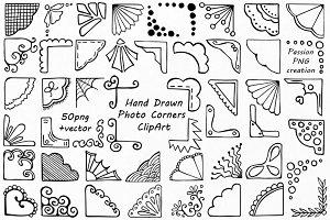 Doodle Corners ClipArt