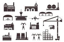 Set of industrial buildings