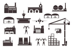 Set of industrial buildings