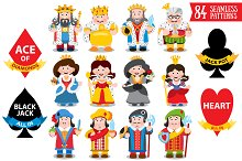 Card Characters and patterns.