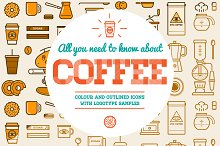 Awesome Coffee Icons and Logo Set 2