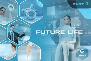 Future Life Layered PSD pack v1
